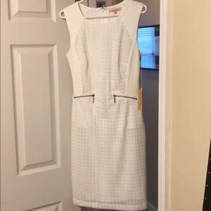 Gibson & Latimer white work midi dress